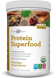amazing grass protein superfood chocolate peanut butter review