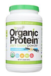orgain organic protein powder review vanilla