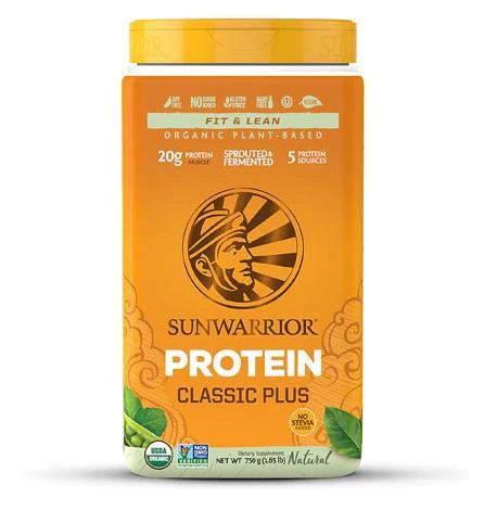 sunwarrior classic plus natural stevia-free protein powder review
