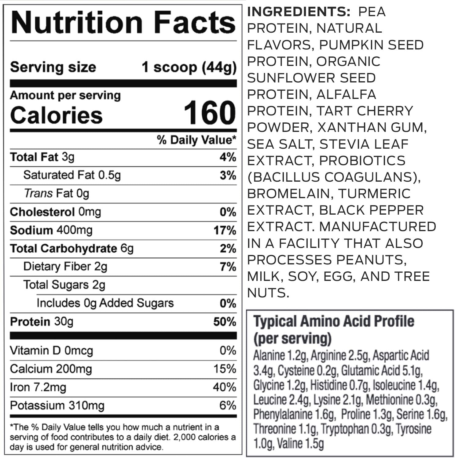 vega sport protein nutrition review